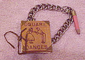 Novelty bracelet with square dance book (Image1)