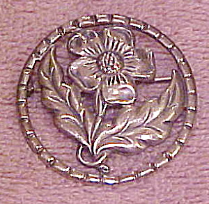 Sterling flower pin (Image1)