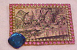 1980s Alice in Wonderland Brooch (Image1)
