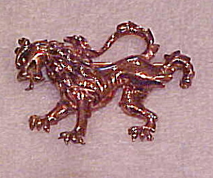 Trifari lion brooch 1940s (Image1)
