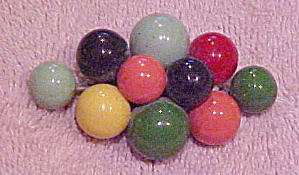 1940s multi color plastic ball pin (Image1)