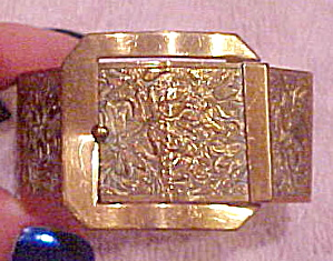 Victorian Revival gold filled buckle bangle (Image1)