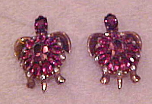 1940s turtle sterling vermeil earrings (Image1)