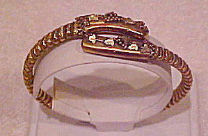 Etruscan style gold filled bangle (Image1)