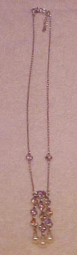 Sterling necklace with glass (Image1)