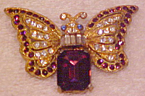 Butterfly pin with rhinestones (Image1)