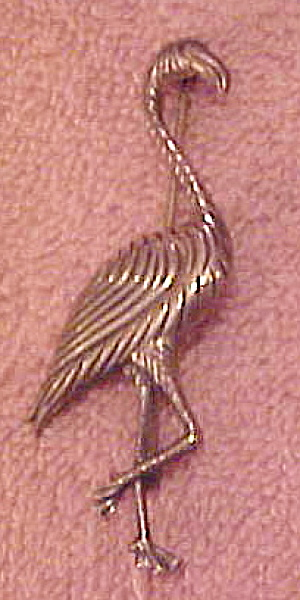 Sterling 1940s Flamingo pin (Image1)