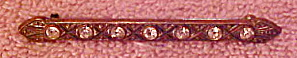 Victorian bar pin with rhinestones (Image1)