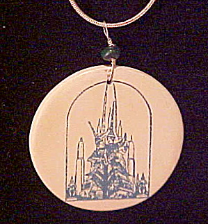Artist made ceramic necklace (Image1)