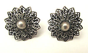 Sterling filligree earrings (Image1)