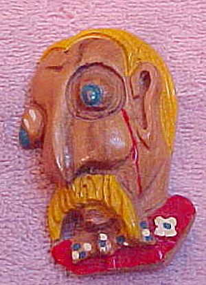 General Custer wood pin (Image1)