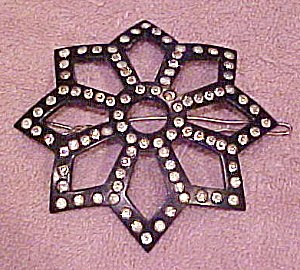 Celluloid barrette with rhinestones (Image1)