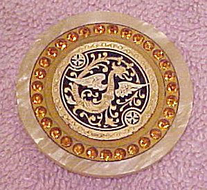 Art Deco Celluloid dragon button (Image1)