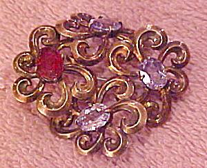 Hungarian Symetallic sterling flower pin (Image1)