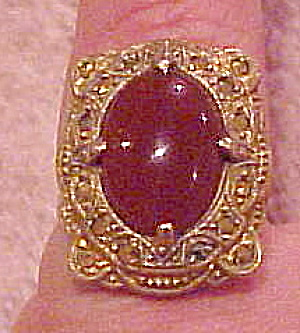 Sterling vermeil ring with marcasites (Image1)
