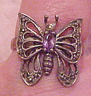 Sterling butterfly ring with marcasites (Image1)