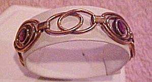 1940s Retro bracelet with amethyst glass (Image1)