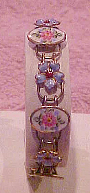 Enameled flower bracelet (Image1)