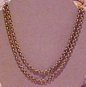 Miriam Haskell brass link necklace (Image1)