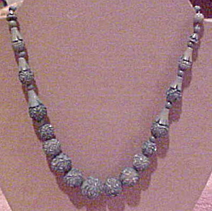 Carved blue bad necklace (Image1)