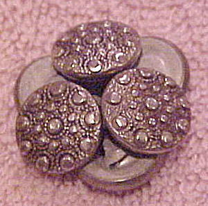 6 metal buttons with raised circles (Image1)