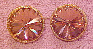 2 goldtone buttons with rhinestone (Image1)