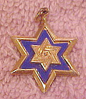 Gold Filled Jewish star charm (Image1)