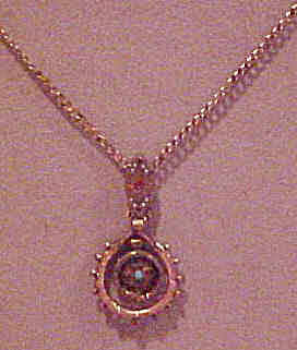 Gold Filled Victorian necklace with stones (Image1)