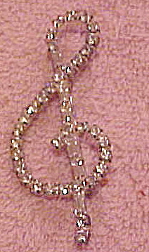 Rhinestone musical note pin (Image1)