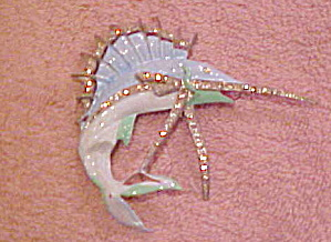 Enamel Sailfish pin (Image1)