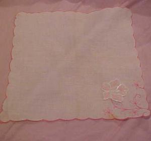 Handkerchief W/floral Applique
