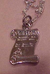 Diploma charm on necklace (Image1)