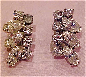 Clear rhinestone earrings (Image1)