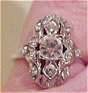Sterling ring with rhinestones (Image1)