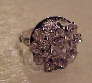 Sterling rhinestone ring (Image1)