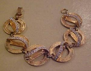 Goldtone bracelet with clera rhinestones (Image1)