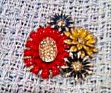 Enamel Flower dress clip (Image1)