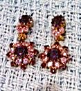 Sparkling purple rhinestone earrings (Image1)