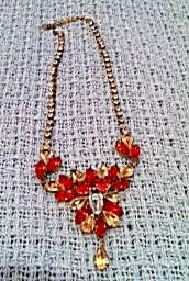 Husar D. Rhinestone necklace with drops (Image1)