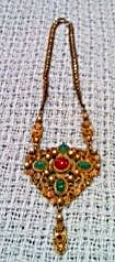 Czechoslovakian Necklace with Rhinestones (Image1)