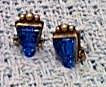 Mexican Sterling Earrings with blue glass (Image1)