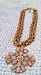 Chain link necklace with large pendant (Image1)