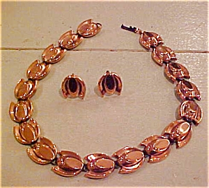 Renoir copper earrings and necklace (Image1)
