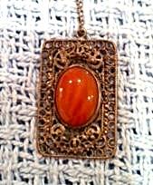 Czechoslovakian pendant on chain (Image1)