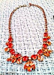 Regency Pink Rhinestone necklace (Image1)