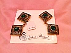 Lucien Piccard earrings on card (Image1)