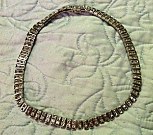Channel Set rhinestone necklace (Image1)