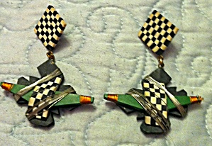 Fimo clay modern design earrings (Image1)