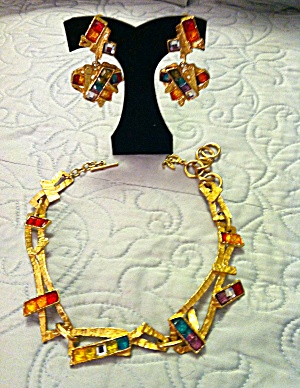 Christian Lacroix Earrings And Necklace