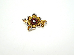 Corocraft Flower Brooch (Image1)